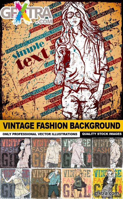 Vintage Fashion Background - 30 Vector