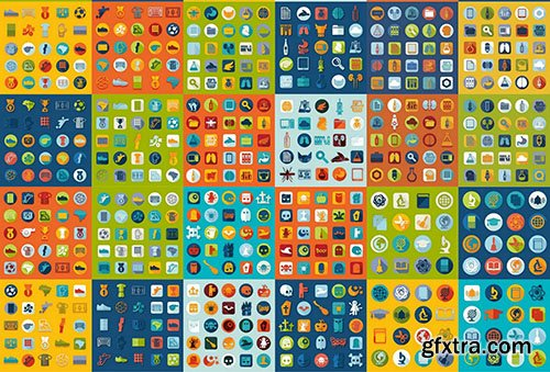 Flat Design Vector Collection, 25xEPS