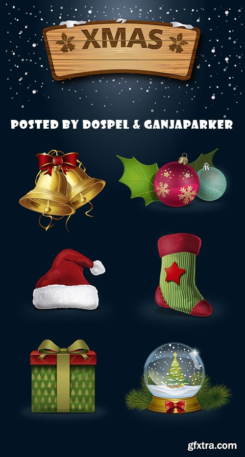 A Highly Detailed Icons AI Vector Christmas And New Year 2015