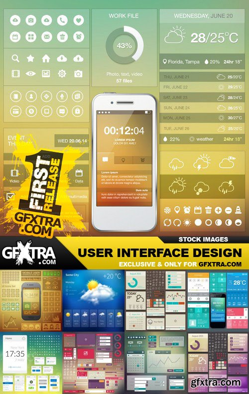 User Interface Design - 25 Vector