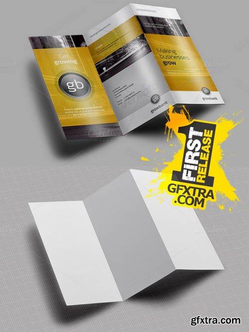 Tri Fold / Brochure / Mock-Up 1 - Creativemarket 128461