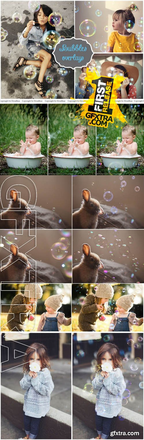 40 Bubble Photo Overlays JPG - Creativemarket 130143