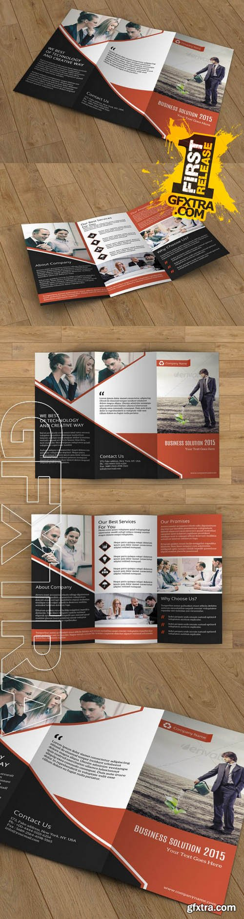Business Brochure trifold - Creativemarket 110516