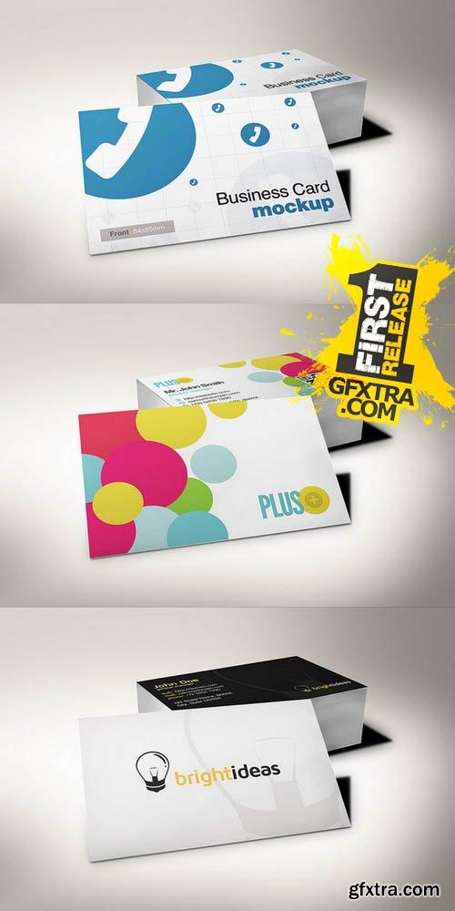 European Size Business Card Mockup 3 - Creativemarket 130178