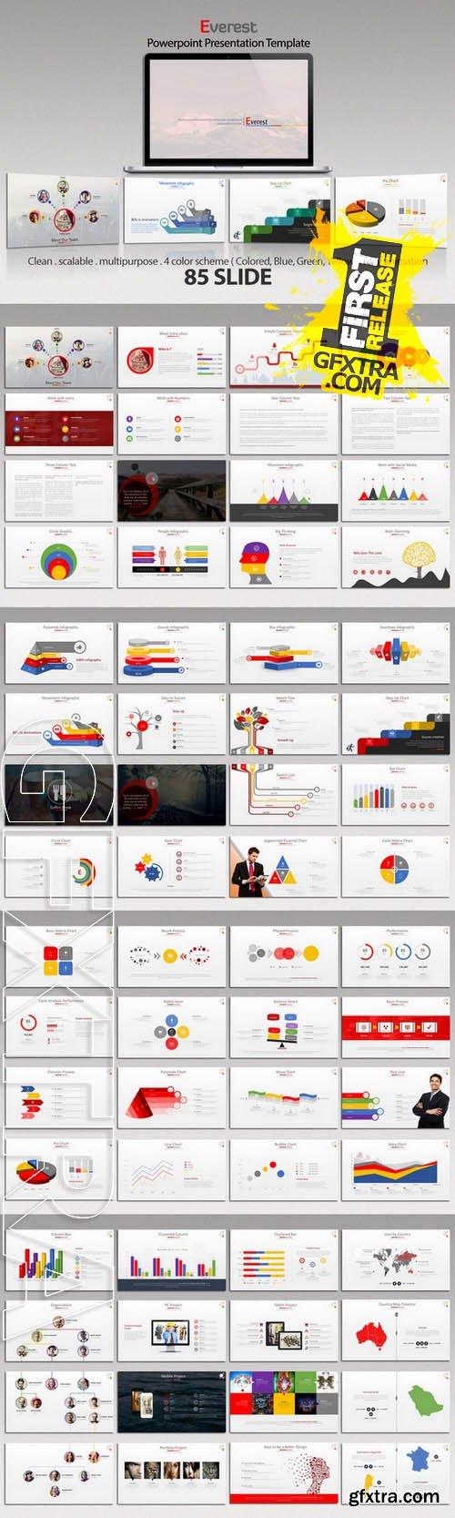 Everest Powerpoint Template - Creativemarket 129929