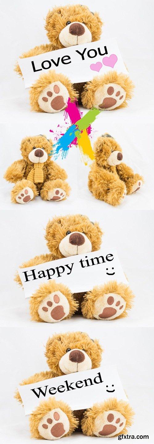 Stock Photo - Teddy Bear Isolated 2