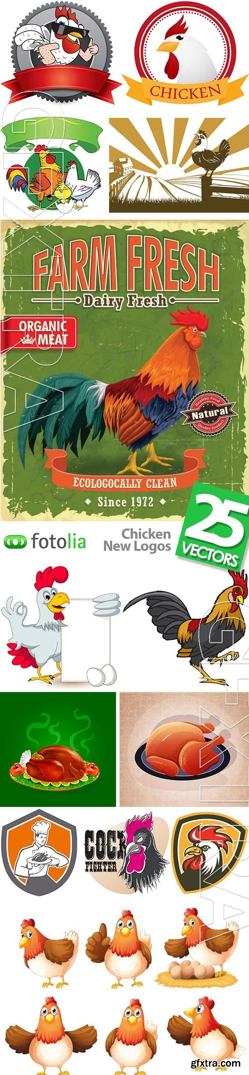 Chicken New Logos 25xEPS