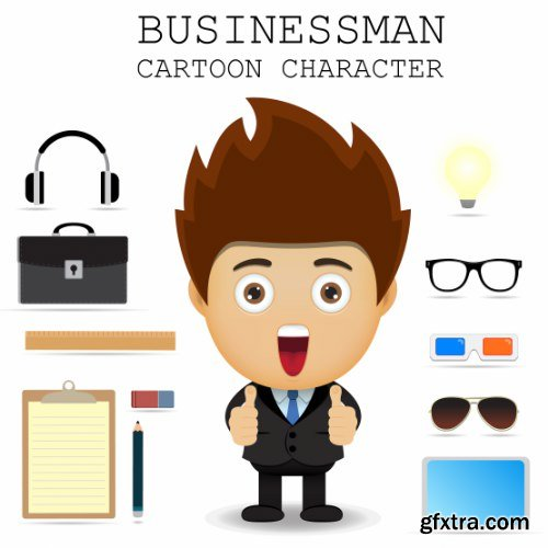 Businessman Cartoon Character 50xAI