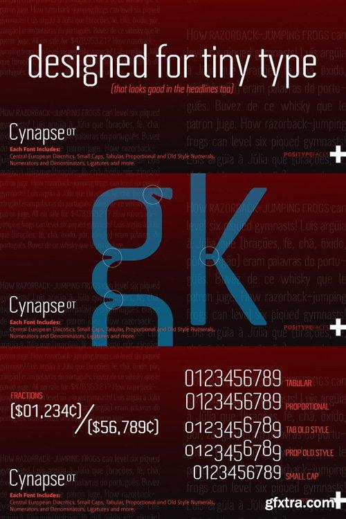 Cynapse OT Font Family $99
