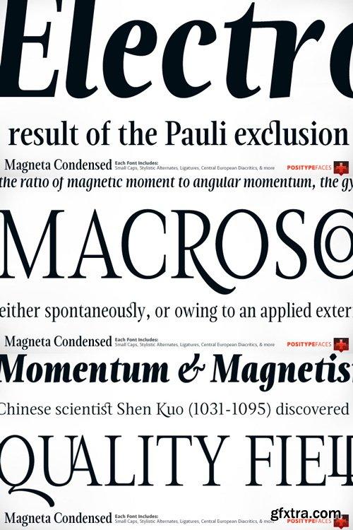 Magneta Condensed Font Family $195