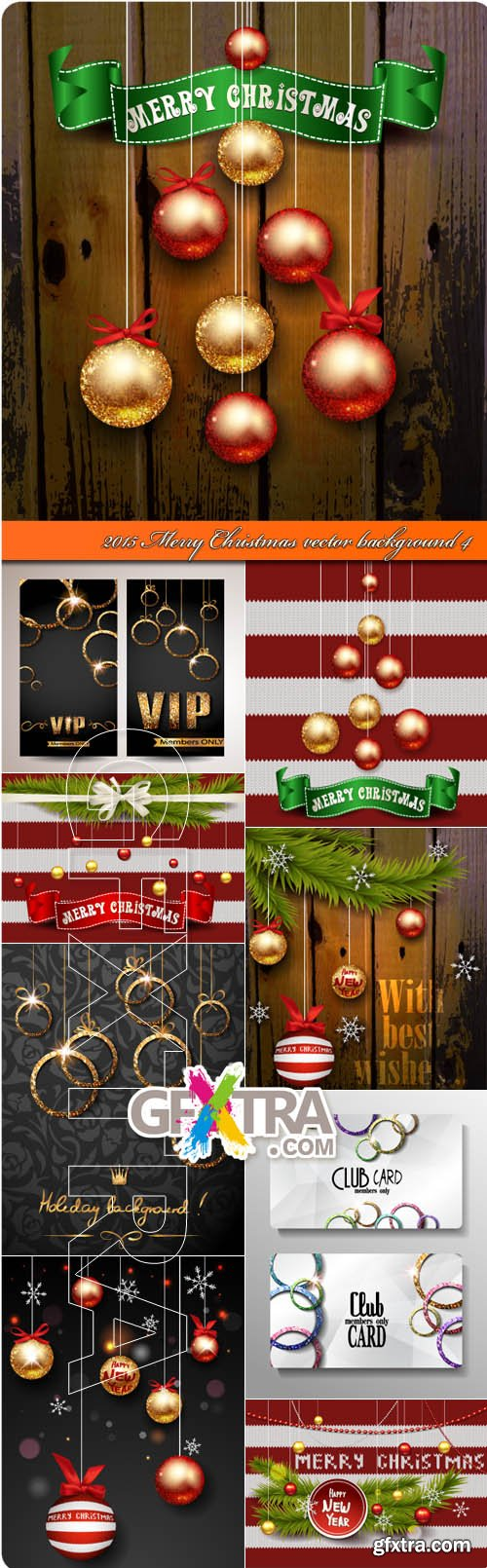 2015 Merry Christmas vector background 4