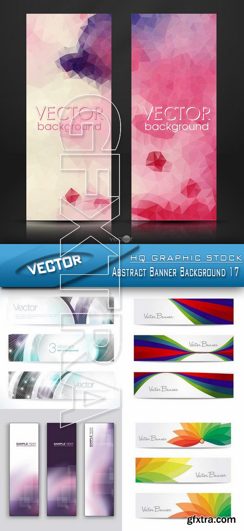 Stock Vector - Abstract Banner Background 17