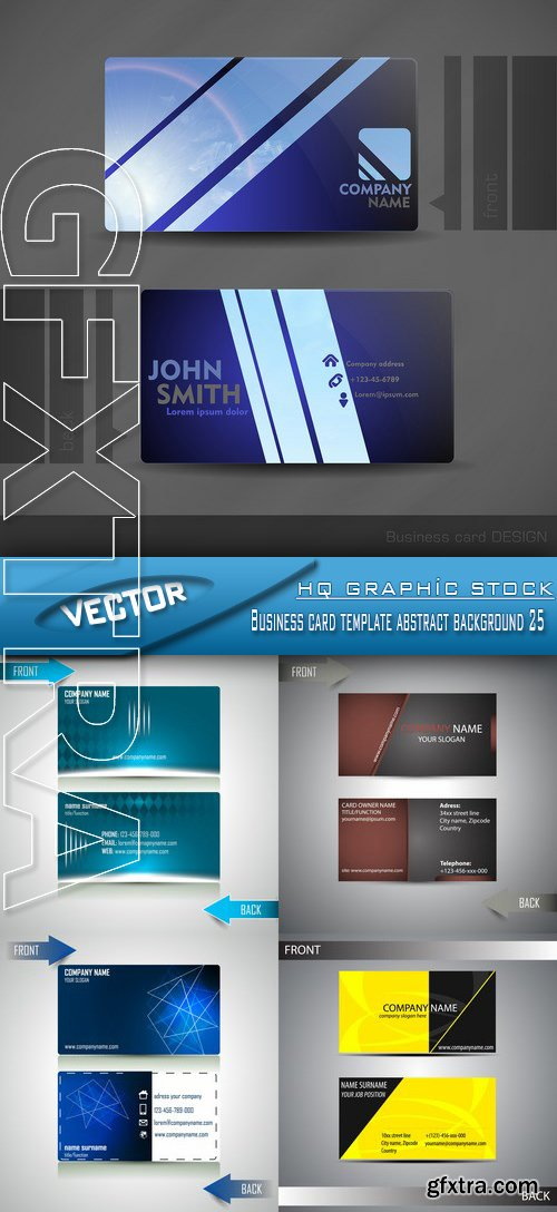 Stock Vector - Business card template abstract background 25