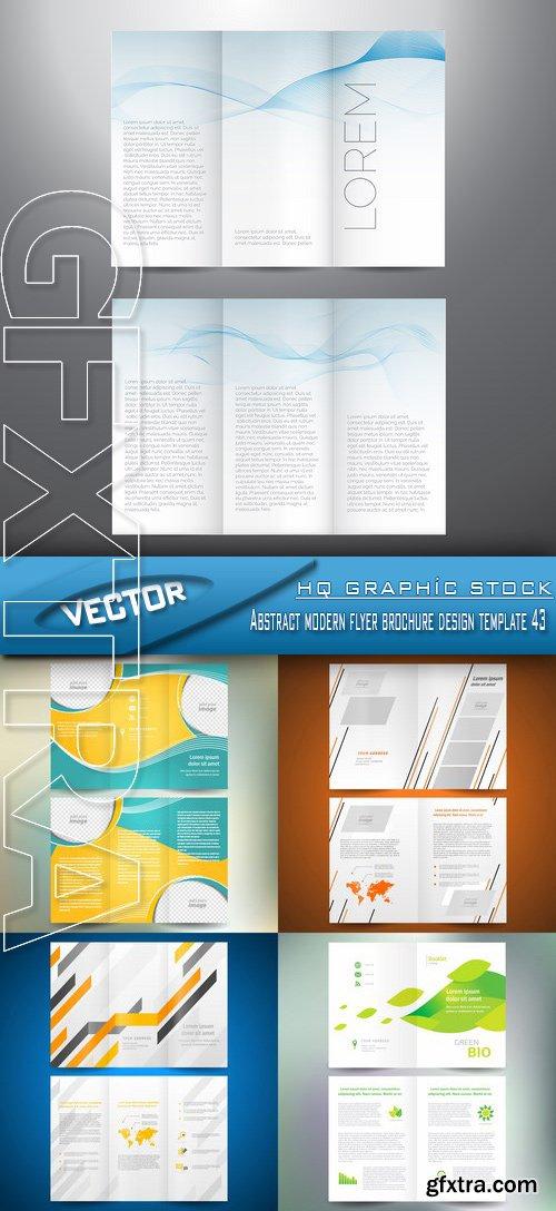 Stock Vector - Abstract modern flyer brochure design template 43