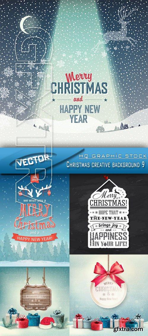 Stock Vector - Christmas creative background 9