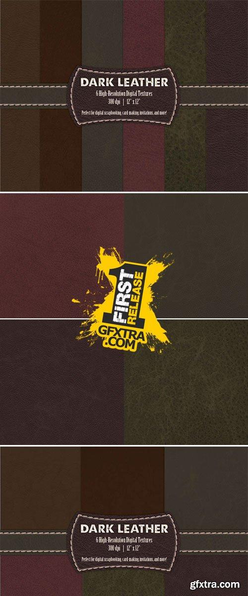 Dark Leather Digital Textures