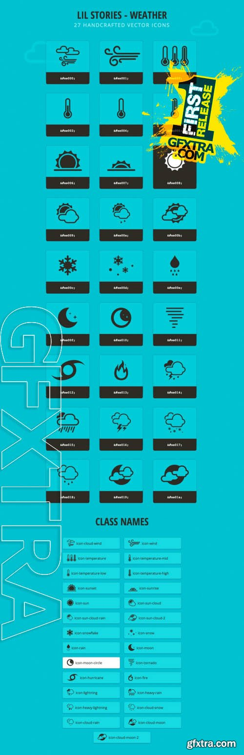 Lil Stories - Weather Icons - Creativemarket 6687