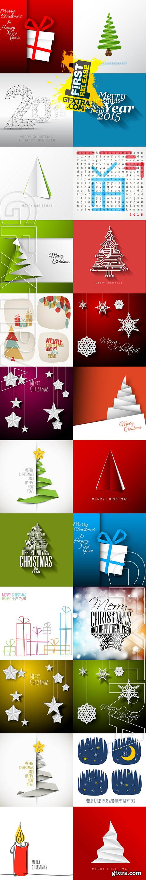 Vector - Christmas Backgrounds 5
