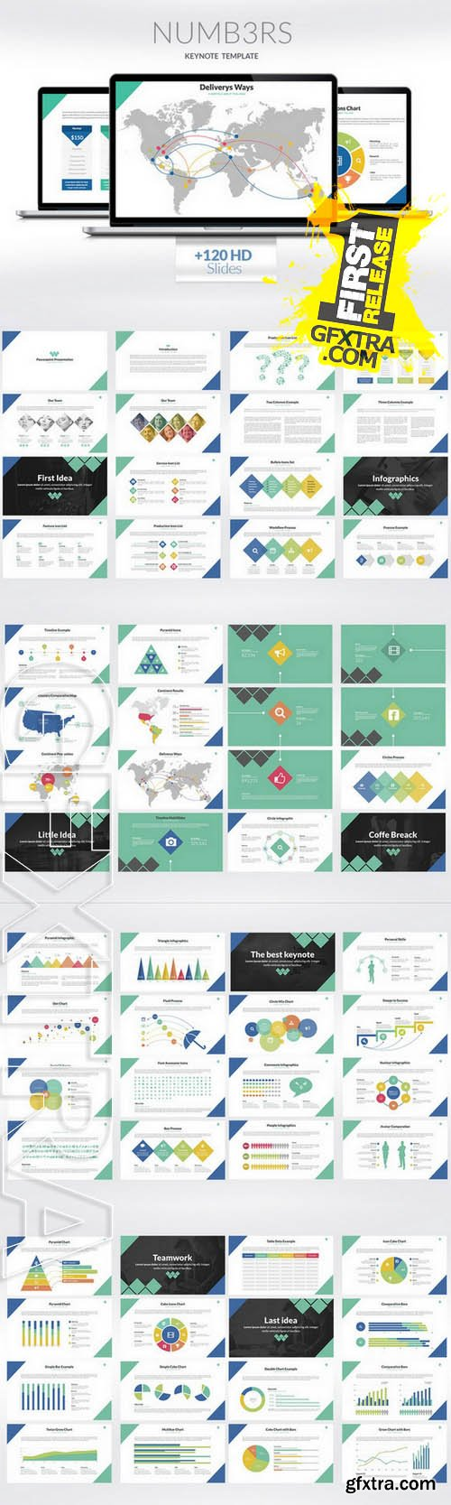 Numbers | Keynote Presentation - Creativemarket 117687
