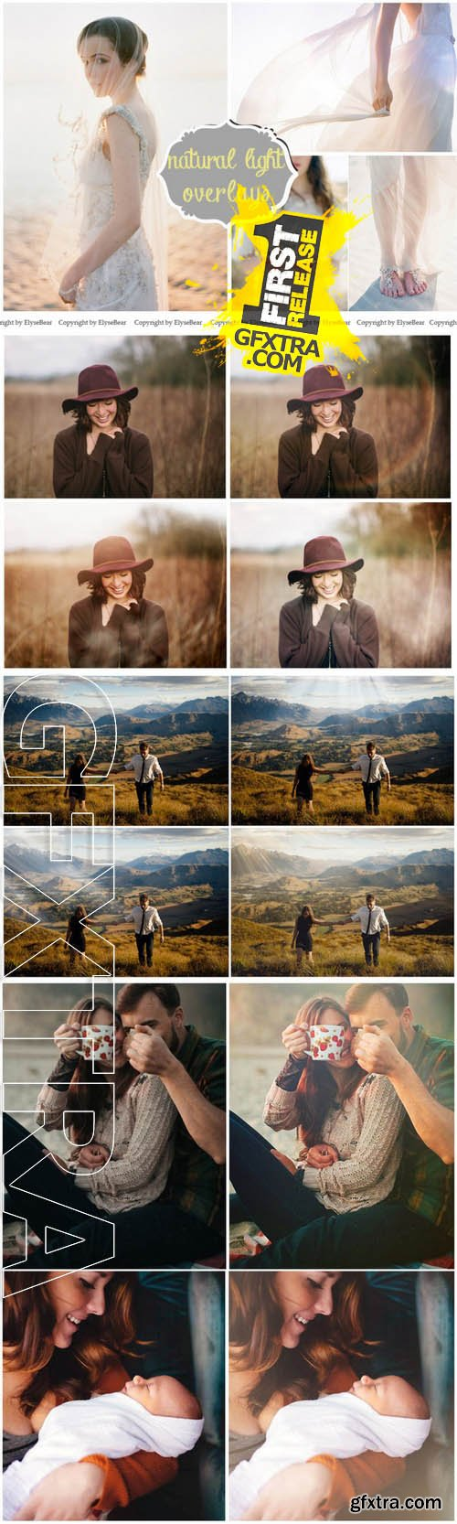 30 Natural Light Photo Overlays JPG - Creativemarket 130135