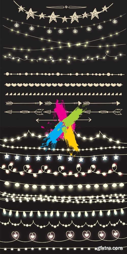 Lights & Garlands Vector