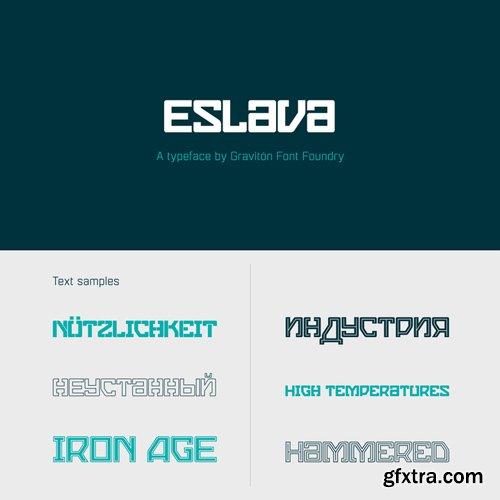 Eslava Font Family $70