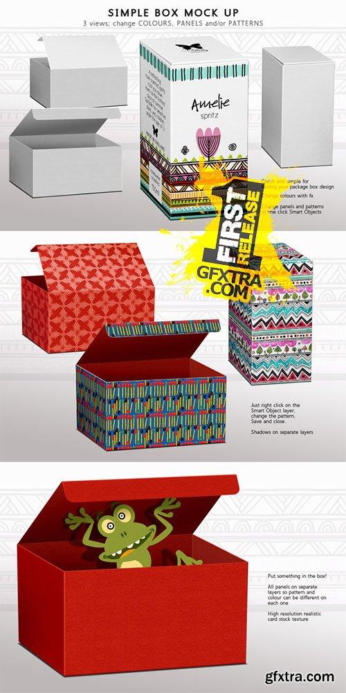 Box Mock-up Panels & Patterns - Creativemarket 132397