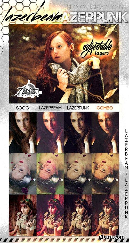 Photoshop Actions - Lazerbeam & Lazerpunk