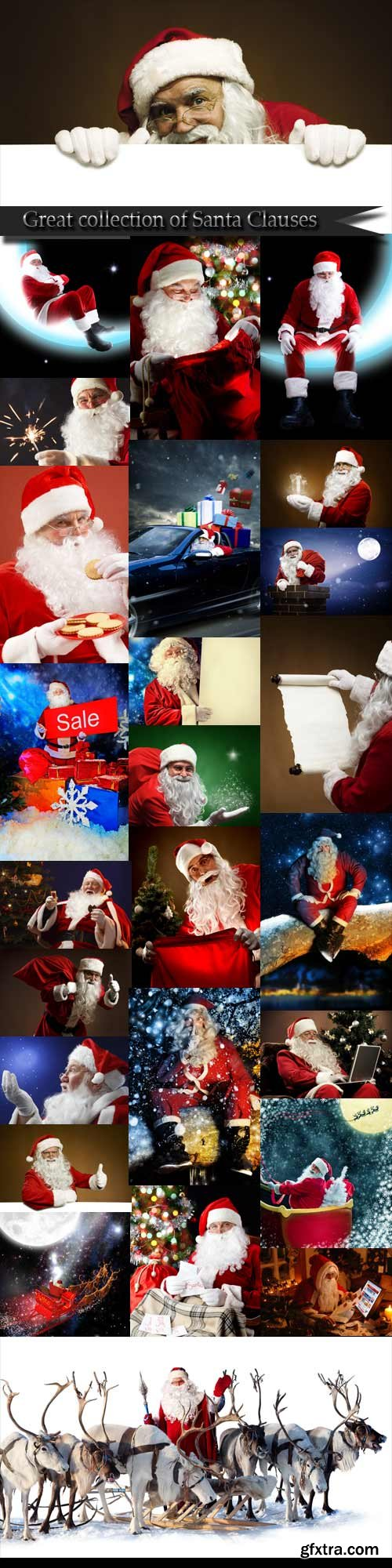 Great collection of Santa Clauses