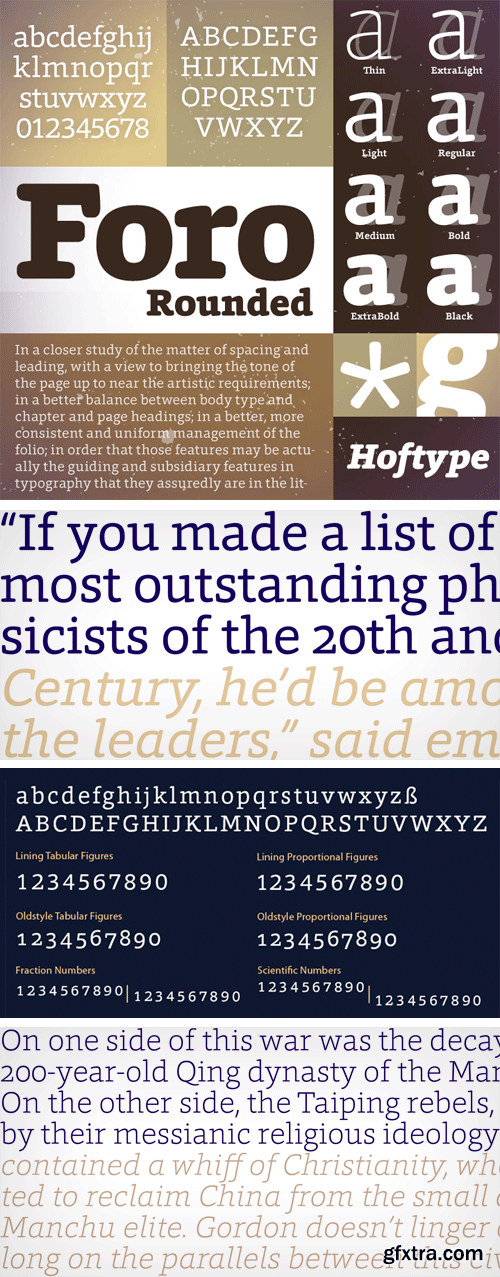 Foro Rounded Font Family - 16 Fonts $198