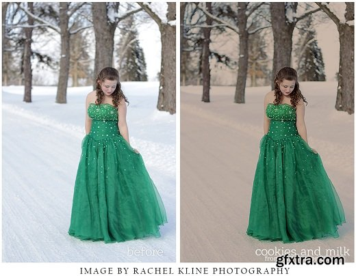 Morgan Burks - Winter Bliss Collection of Photoshop Actions