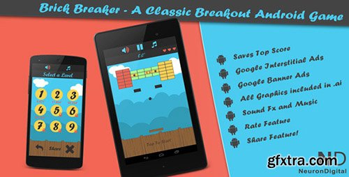 CodeCanyon - Brick Breaker v6 - A Classic Breakout Android Game
