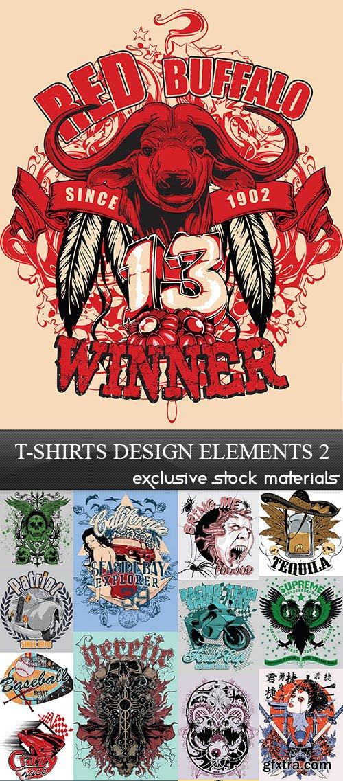 T-Shirts Design Elements 2, 30xEPS