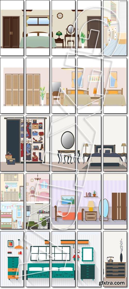 Lovely Bedroom - Vector