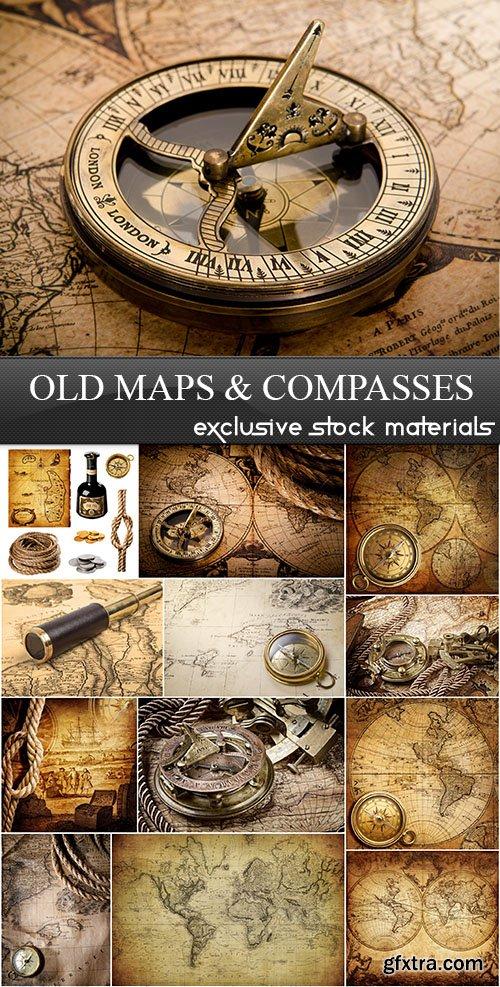 Old Maps & Compasses, 25xUHQ JPEG