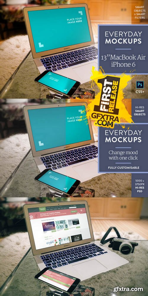 iPhone & MB Air – Everyday Mockups 3- CM 132297