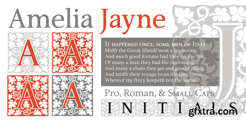 P22 Amelia Jayne Font Family $80