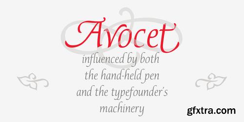 P22 Avocet Font Family $80