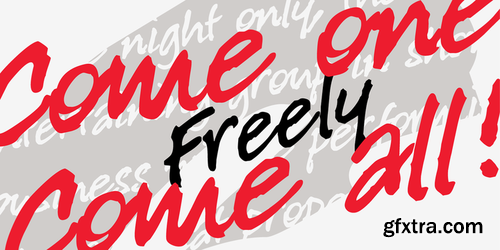 P22 Freely Font Family $25