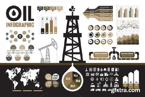 CM - Oil Infographic Elements 106767