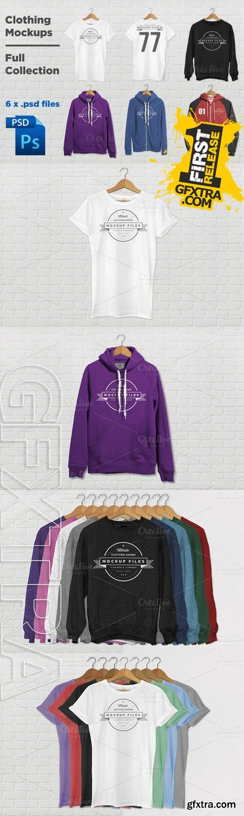 Clothing Mockups Full Collection - CM 15270