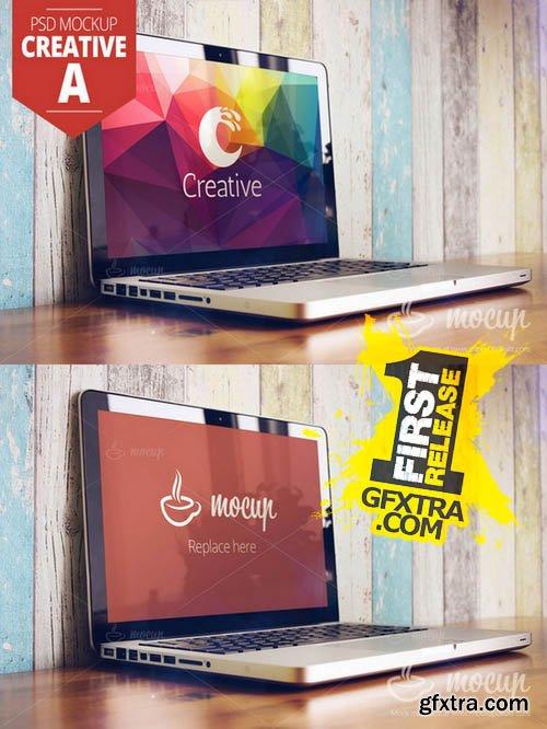 MacBook PSD Mockup Creative A - CM 136784