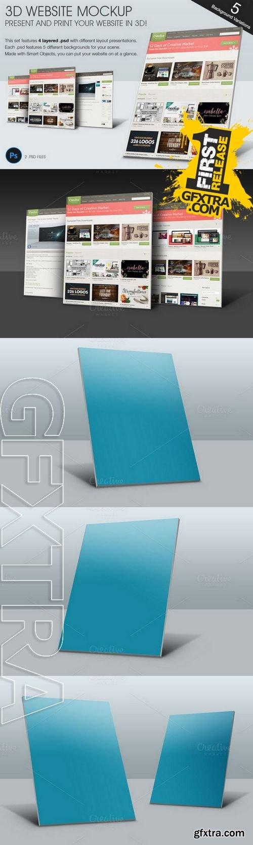 3D Website MockUp - CM 133118