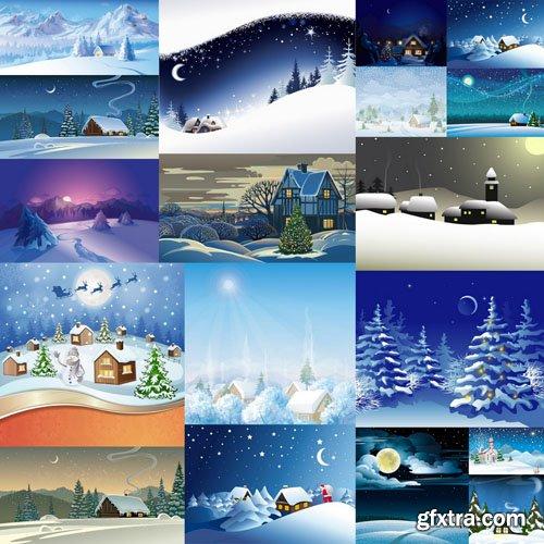 Winter Landscape - 30 Vector