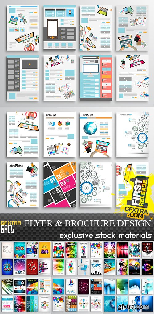 Flyer and Brochure Design, 25xEPS