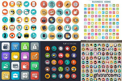 Flat Icons 2 - Design Vector Collection, 25xEPS