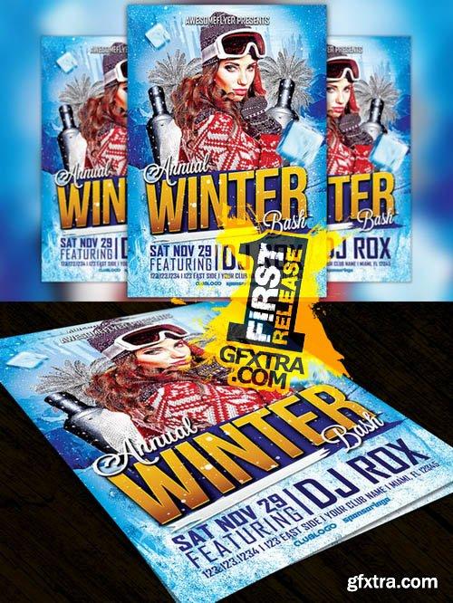 Annual Winter Bash Flyer Template - CM 100561