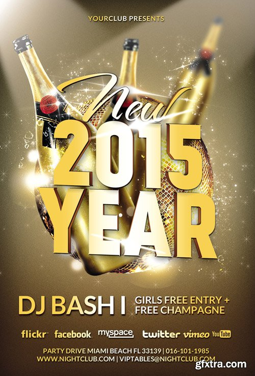 New Year Flyer Template 2015