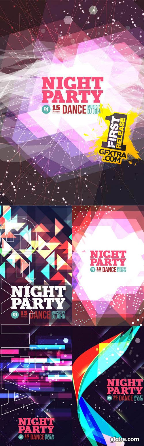 Vector - Night Party Flyers