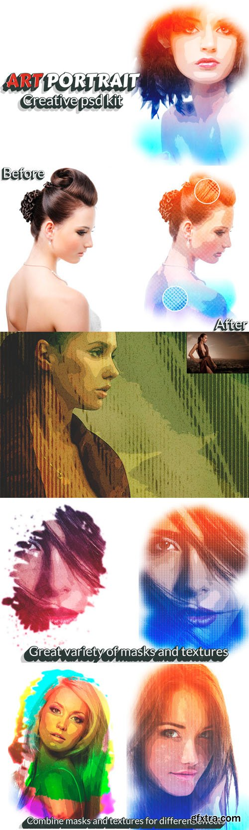 "CM - ""Art Portrait"" - Creative psd kit 138904"